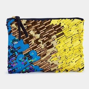 Sam Edelman Bianca Clutch, Sequined, Beaded